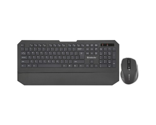 Комплект беспроводной клавиатура+мышь Defender Berkeley C-925 RU черный