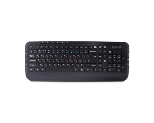 Клавиатура Delux DLK-160UB черный