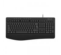 Клавиатура проводная Delux DLK-6060UB черный