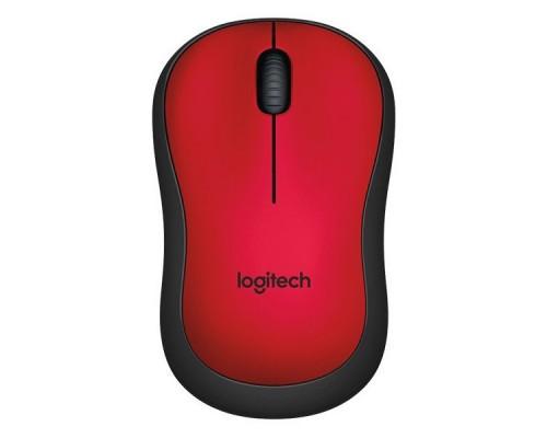 Мышь беспроводная Logitech M220 Silent Red (910-004880)