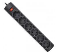 Сетевой фильтр Defender DFS 155 черный