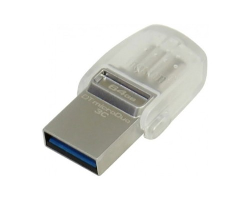 USB Флеш 64GB 3.0 Kingston OTG DTDUO3C/64GB металл