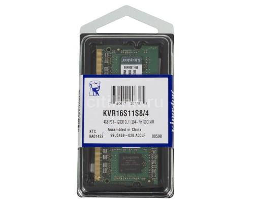 Модуль памяти для ноутбука, Kingston, KVR16S11S8/4
