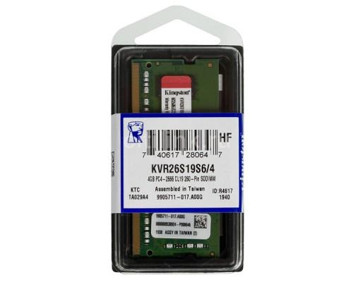Модуль памяти для ноутбука, Kingston, KVR26S19S6/4