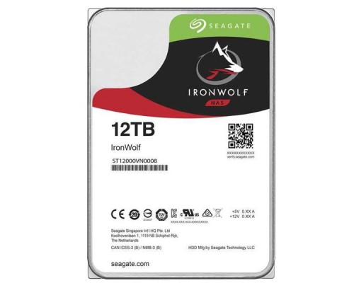 HDD 12Tb Seagate IronWolf ST12000VN0008