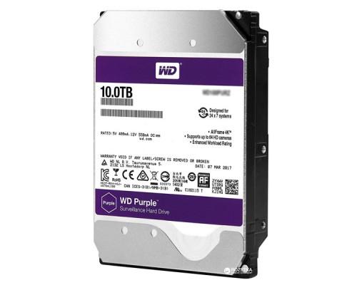 Жесткий диск HDD 10Tb Western Digital Purple Surveillance WD101PURZ