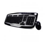 Комплект беспроводной клавиатура+мышь Gigabyte GK-KM7600 черный