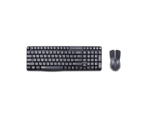 Комплект беспроводной клавиатура+мышь Rapoo X1800 черный