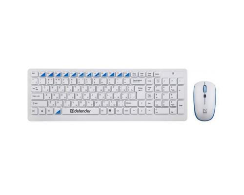 Комплект беспроводной клавиатура+мышь Defender Skyline 895 RU белый